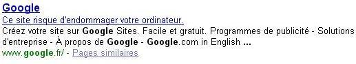 google-dangereux